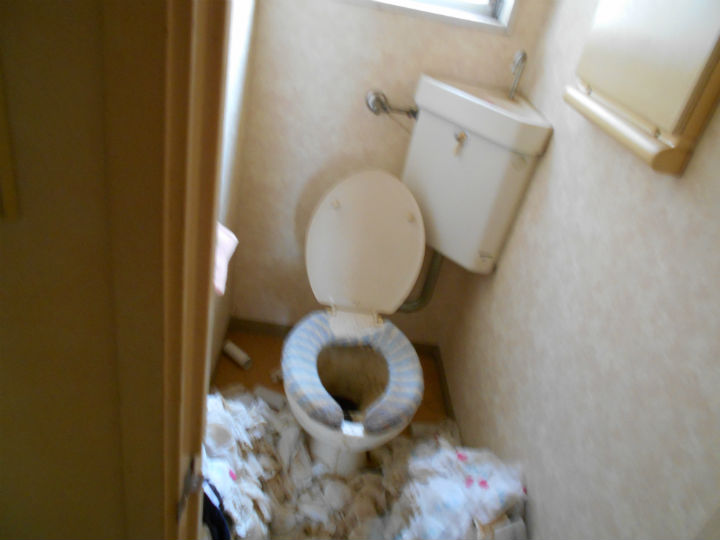 トイレ清掃 Before